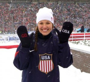 Anne Schleper in Ann Arbor, Mich., after being named to 2014 U.S. Women's Olympic Hockey TEam.