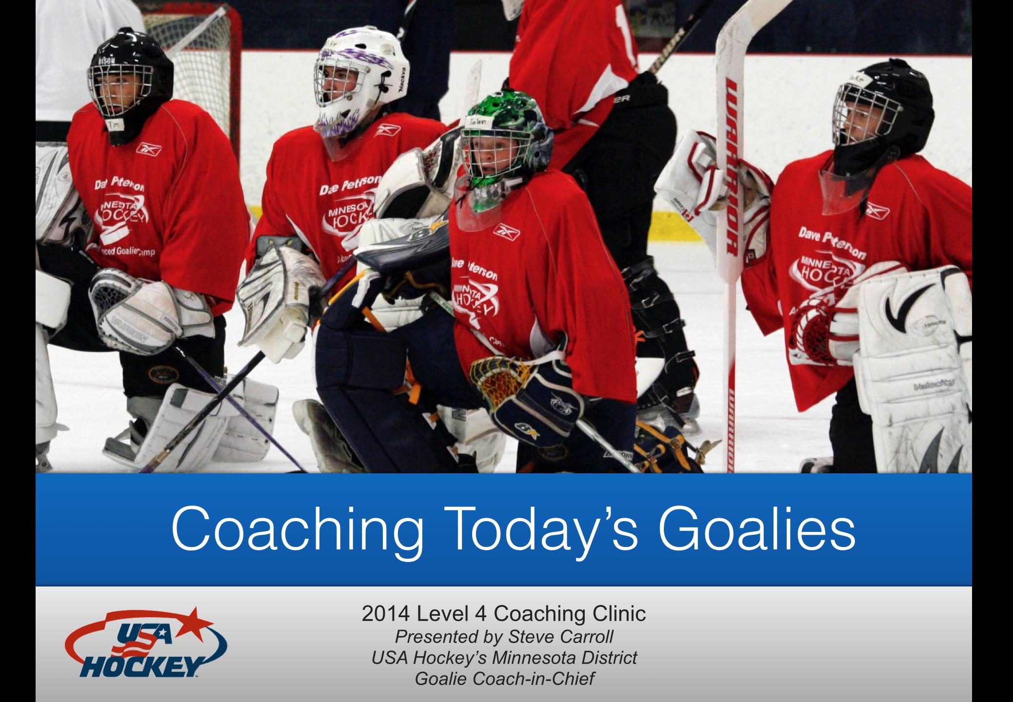 Goalie Presentation At Usa Hockey Clinic Carroll Goalie School