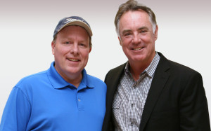 Coach Carroll and Jim Craig during visit to Minneapolis.