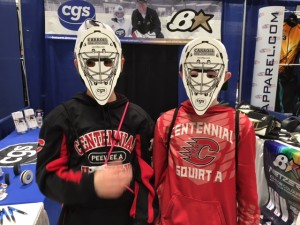 Goalie masks were a big hit at the LPH Expo.