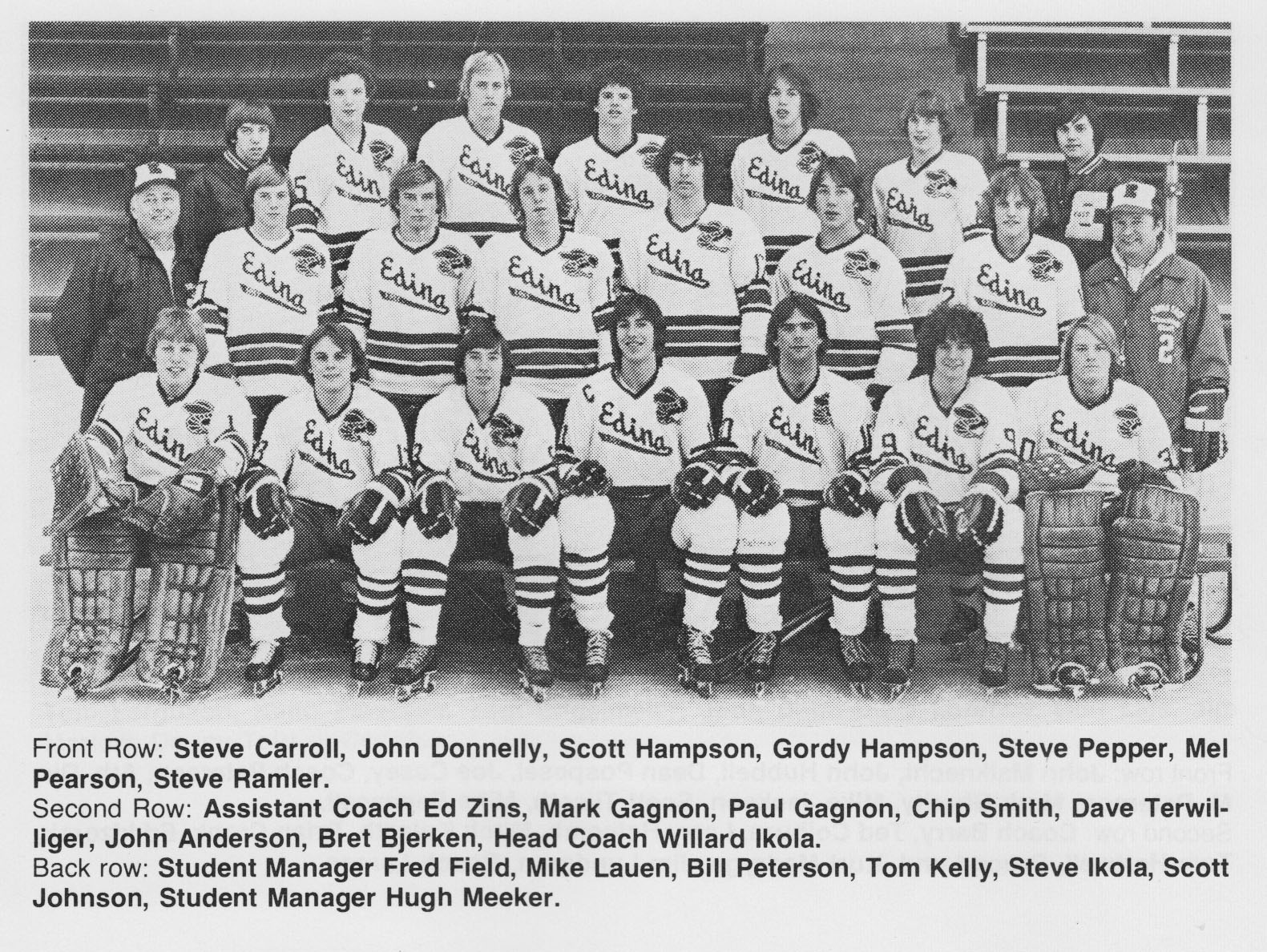 State high school hockey tournament memories – Carroll